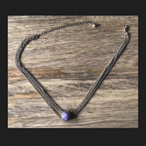 14th & Union Triple Strand Purple Stone Choker